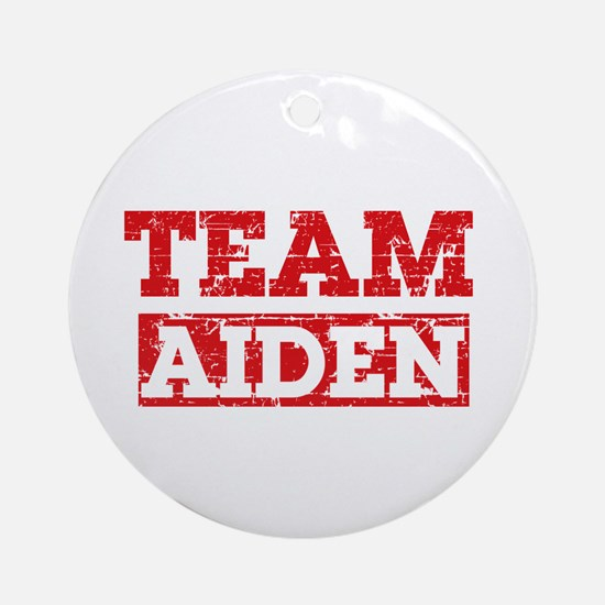 Team Aiden Ornament (Round)