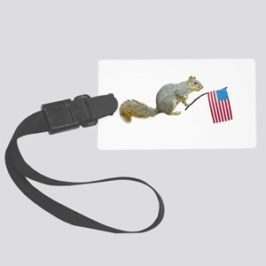 squirrelflag4th Large Luggage Tag