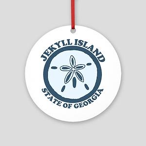 Jekyll Island GA - Sand Dollar Design. Ornament (R