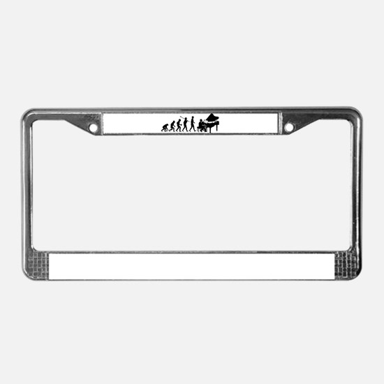 Pianist License Plate Frame