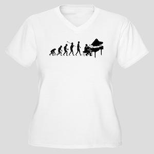 Pianist Women's Plus Size V-Neck T-Shirt