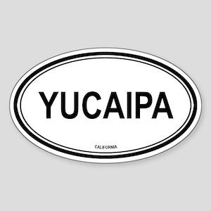 Yucaipa oval Oval Sticker