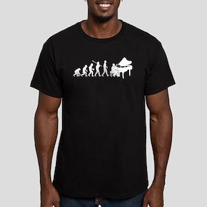 Pianist Men's Fitted T-Shirt (dark)