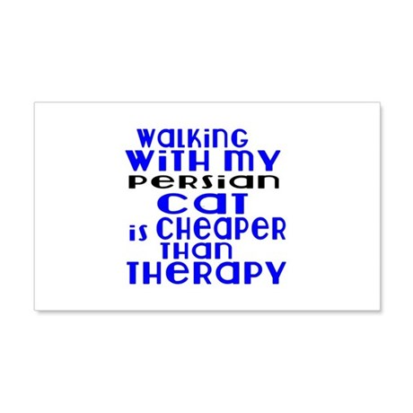 Walking With My persian Cat 20x12 Wall Decal