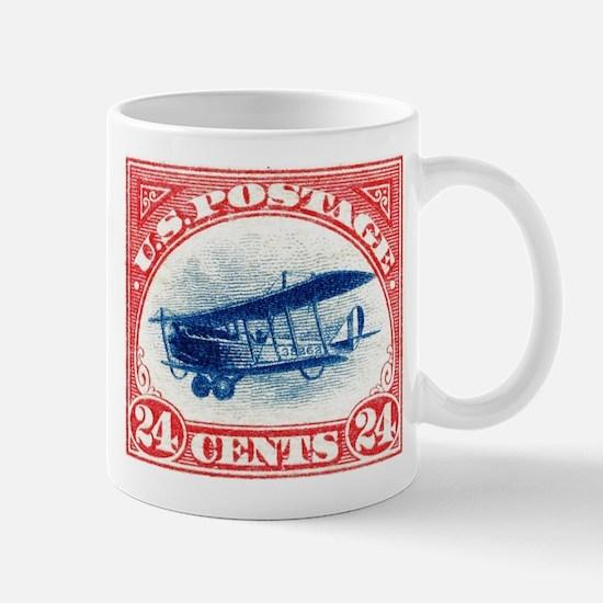 1918 US Stamp Curtiss Biplane Mug