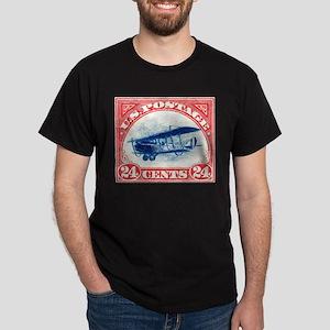 1918 US Stamp Curtiss Biplane Dark T-Shirt