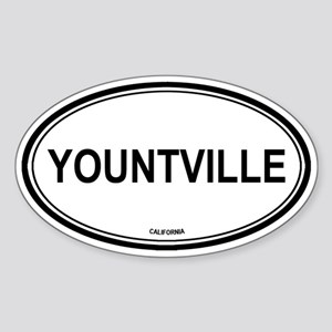 Yountville oval Oval Sticker