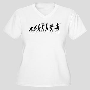 Swing Dancing Women's Plus Size V-Neck T-Shirt