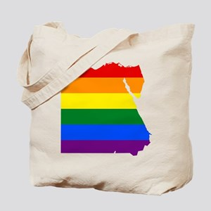 Rainbow Pride Flag Egypt Map Tote Bag