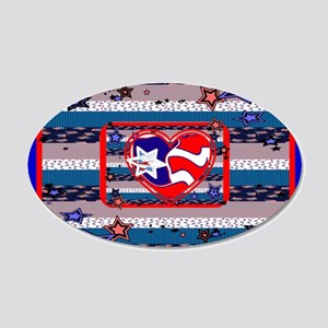 American Style 20x12 Oval Wall Decals