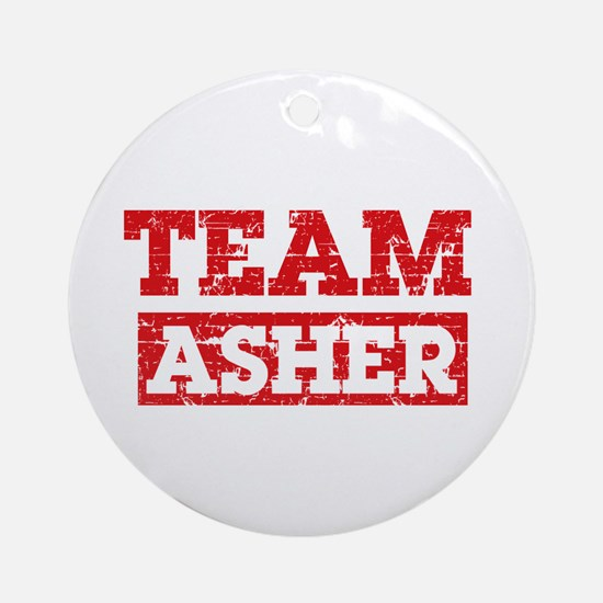 Team Asher Ornament (Round)