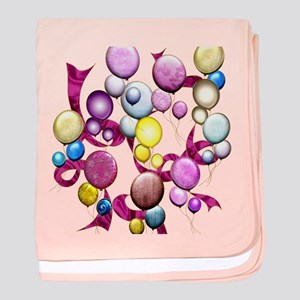 Harvest Moon's Rose Balloons baby blanket