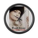 Pearl Lover Large Wall Clock