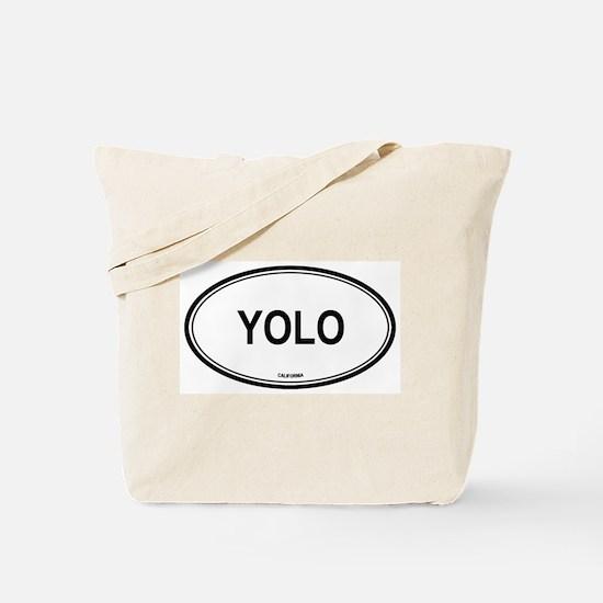Yolo oval Tote Bag
