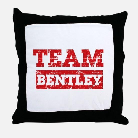 Team Bentley Throw Pillow