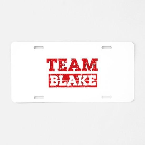Team Blake Aluminum License Plate