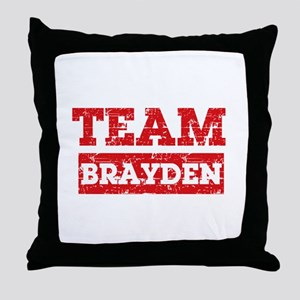 Team Brayden Throw Pillow