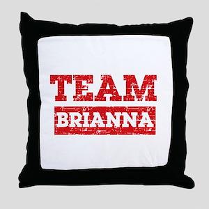 Team Brianna Throw Pillow