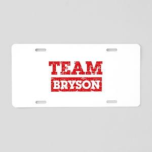Team Bryson Aluminum License Plate