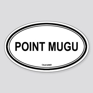Point Mugu oval Oval Sticker
