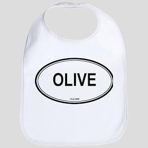 Olive oval Bib