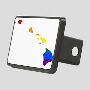 Rainbow Pride Flag Hawaii Map Rectangular Hitch Co