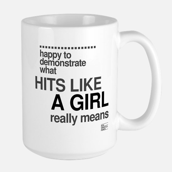Hit Like a Girl Large Mug