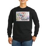 Tanaka Pin-up Poster Long Sleeve Dark T-Shirt