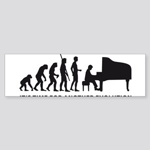 evolution piano Sticker (Bumper)