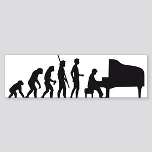 evolution piano player Sticker (Bumper)
