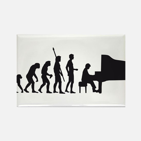 evolution piano player Rectangle Magnet