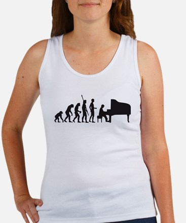 evolution piano player Women's Tank Top