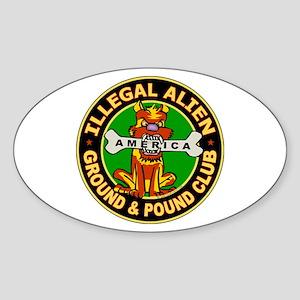 Ground Pound Club - Oval Sticker