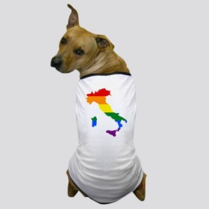 Rainbow Pride Flag Italy Map Dog T-Shirt