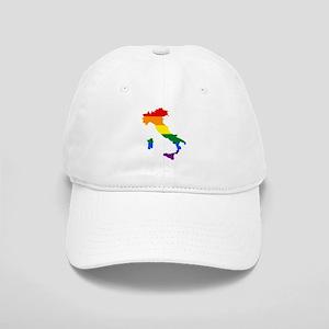 Rainbow Pride Flag Italy Map Cap