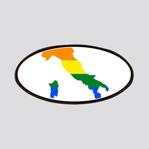 Rainbow Pride Flag Italy Map Patches