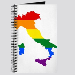 Rainbow Pride Flag Italy Map Journal