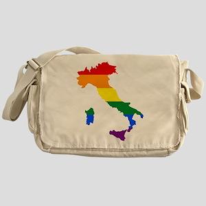 Rainbow Pride Flag Italy Map Messenger Bag