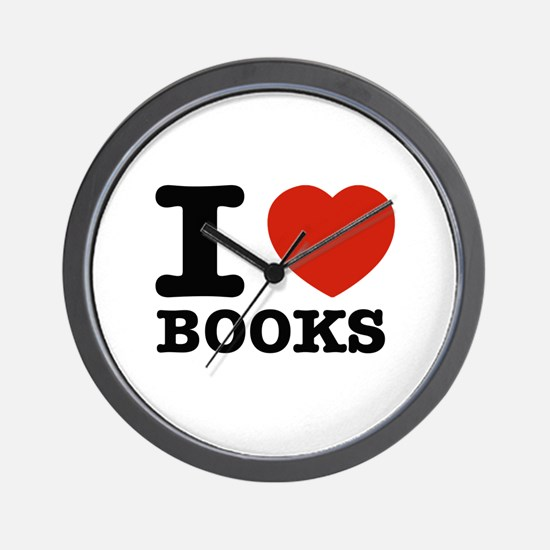 I heart Books Wall Clock