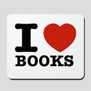 I heart Books Mousepad