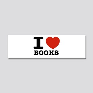 I heart Books Car Magnet 10 x 3