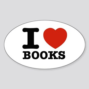 I heart Books Sticker (Oval)