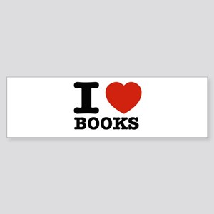 I heart Books Sticker (Bumper)