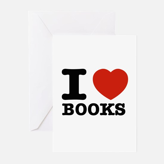 I heart Books Greeting Cards (Pk of 10)