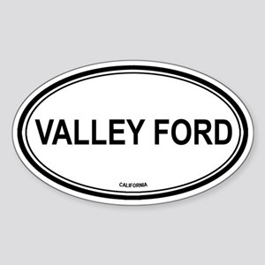 Valley Ford oval Oval Sticker