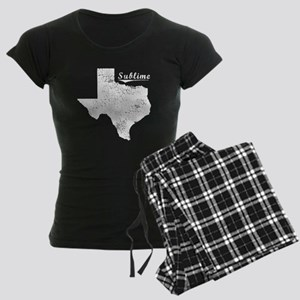 Sublime, Texas. Vintage Women's Dark Pajamas