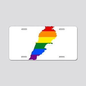 Rainbow Pride Flag Lebanon Map Aluminum License Pl
