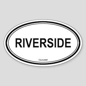 Riverside oval Oval Sticker