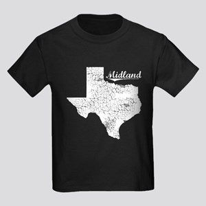 Midland, Texas. Vintage Kids Dark T-Shirt
