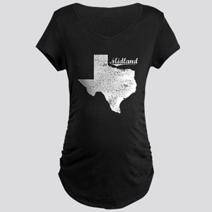 Midland, Texas. Vintage Maternity Dark T-Shirt